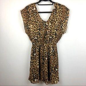 Express Leopard Mini Dress S P